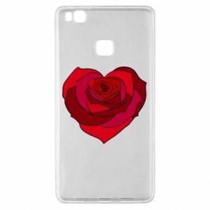 Etui na Huawei P9 Lite Rose heart