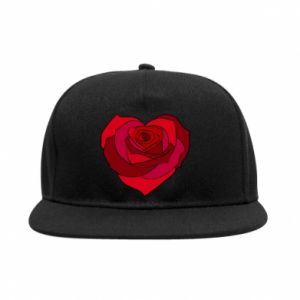 SnapBack Rose heart