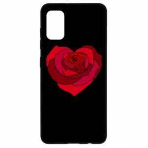 Etui na Samsung A41 Rose heart