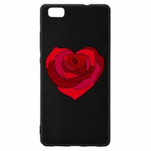 Etui na Huawei P 8 Lite Rose heart