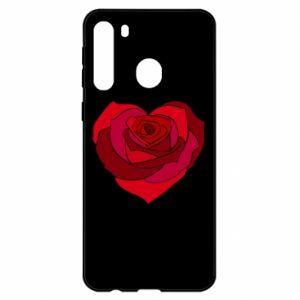 Etui na Samsung A21 Rose heart