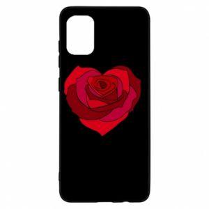 Etui na Samsung A31 Rose heart