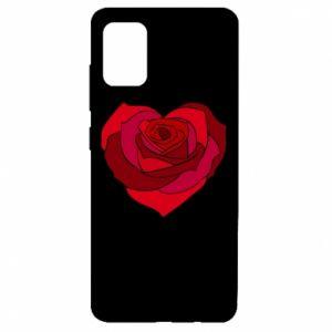 Etui na Samsung A51 Rose heart
