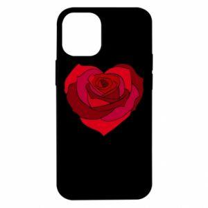 Etui na iPhone 12 Mini Rose heart