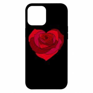 Etui na iPhone 12 Pro Max Rose heart