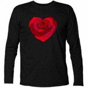 Koszulka z długim rękawem Rose heart - PrintSalon