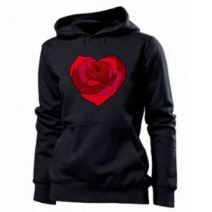 Damska bluza Rose heart - PrintSalon