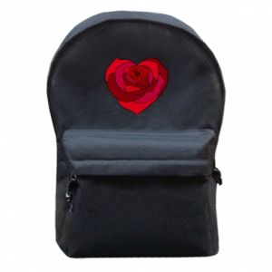 Backpack with front pocket Rose heart