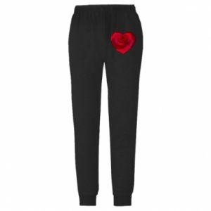 Męskie spodnie lekkie Rose heart