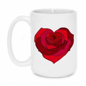 Kubek 450ml Rose heart - PrintSalon