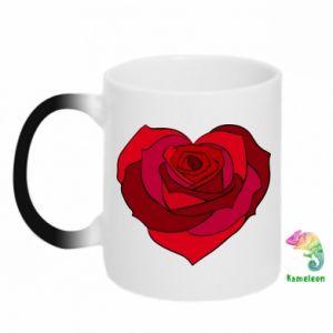 Kubek-kameleon Rose heart - PrintSalon