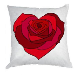 Pillow Rose heart