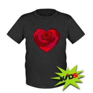 Kids T-shirt Rose heart
