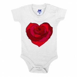 Body dla dzieci Rose heart - PrintSalon