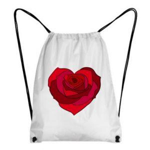 Plecak-worek Rose heart - PrintSalon