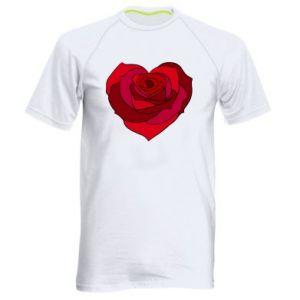 Męska koszulka sportowa Rose heart