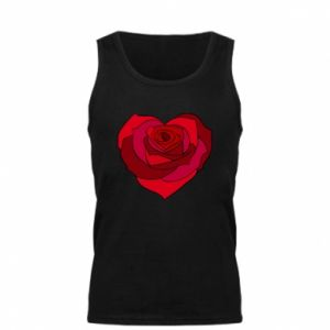 Men's t-shirt Rose heart