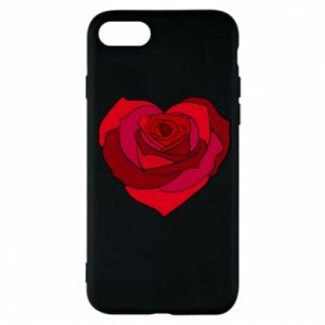 Etui na iPhone 7 Rose heart