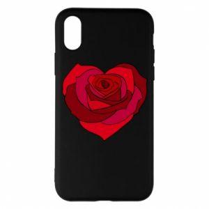 Etui na iPhone X/Xs Rose heart