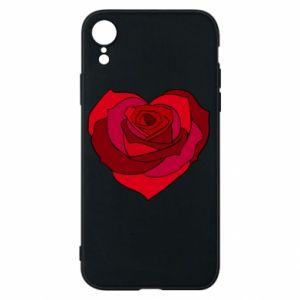 Etui na iPhone XR Rose heart