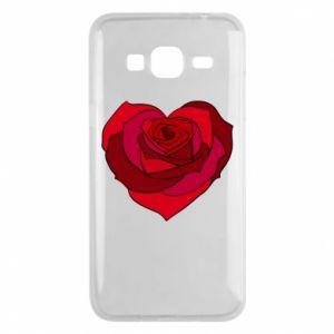 Etui na Samsung J3 2016 Rose heart