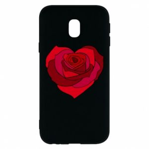 Etui na Samsung J3 2017 Rose heart