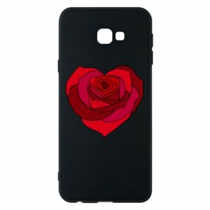 Phone case for Samsung J4 Plus 2018 Rose heart