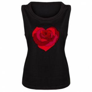 Women's t-shirt Rose heart