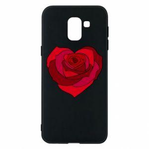 Etui na Samsung J6 Rose heart