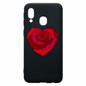 Etui na Samsung A40 Rose heart