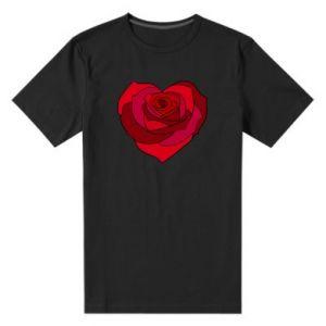Męska premium koszulka Rose heart - PrintSalon