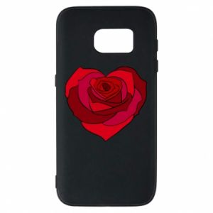 Etui na Samsung S7 Rose heart