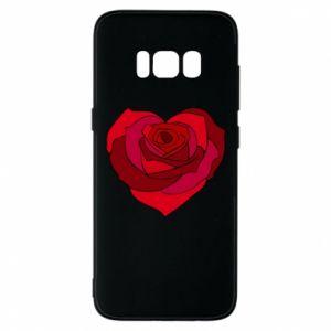 Etui na Samsung S8 Rose heart