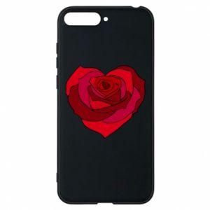 Etui na Huawei Y6 2018 Rose heart