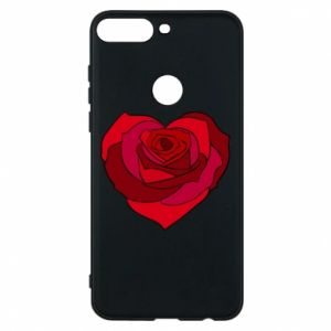 Phone case for Huawei Y7 Prime 2018 Rose heart