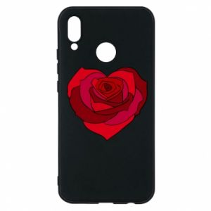 Etui na Huawei P20 Lite Rose heart