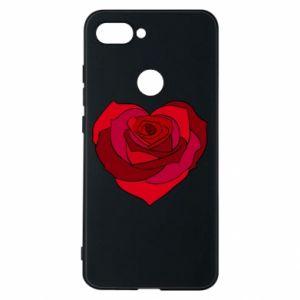 Etui na Xiaomi Mi8 Lite Rose heart
