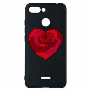 Etui na Xiaomi Redmi 6 Rose heart