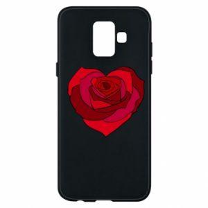 Etui na Samsung A6 2018 Rose heart