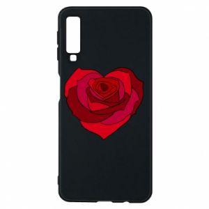 Etui na Samsung A7 2018 Rose heart