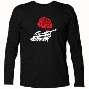 Koszulka z długim rękawem Rose skeleton hand