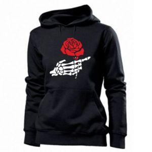 Damska bluza Rose skeleton hand
