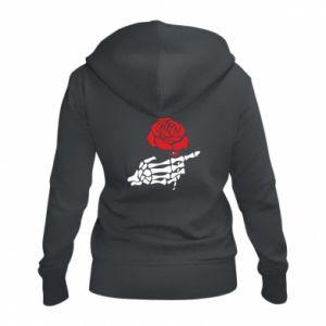 Damska bluza na zamek Rose skeleton hand