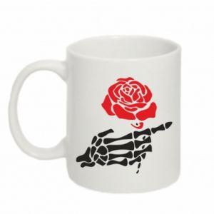 Kubek 330ml Rose skeleton hand