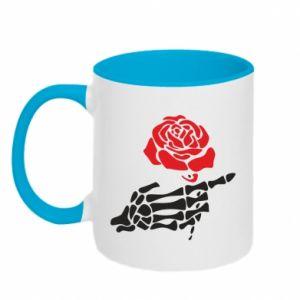 Kubek dwukolorowy Rose skeleton hand