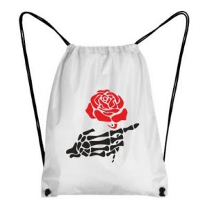 Plecak-worek Rose skeleton hand