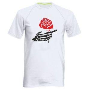 Męska koszulka sportowa Rose skeleton hand