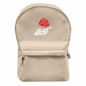Plecak z przednią kieszenią Rose skeleton hand