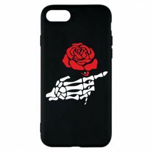 Etui na iPhone 8 Rose skeleton hand