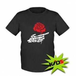 Dziecięcy T-shirt Rose skeleton hand